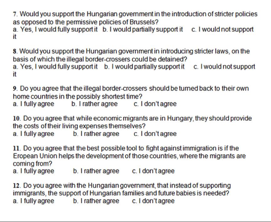 Questionnaire du gouvernement - crédit DR