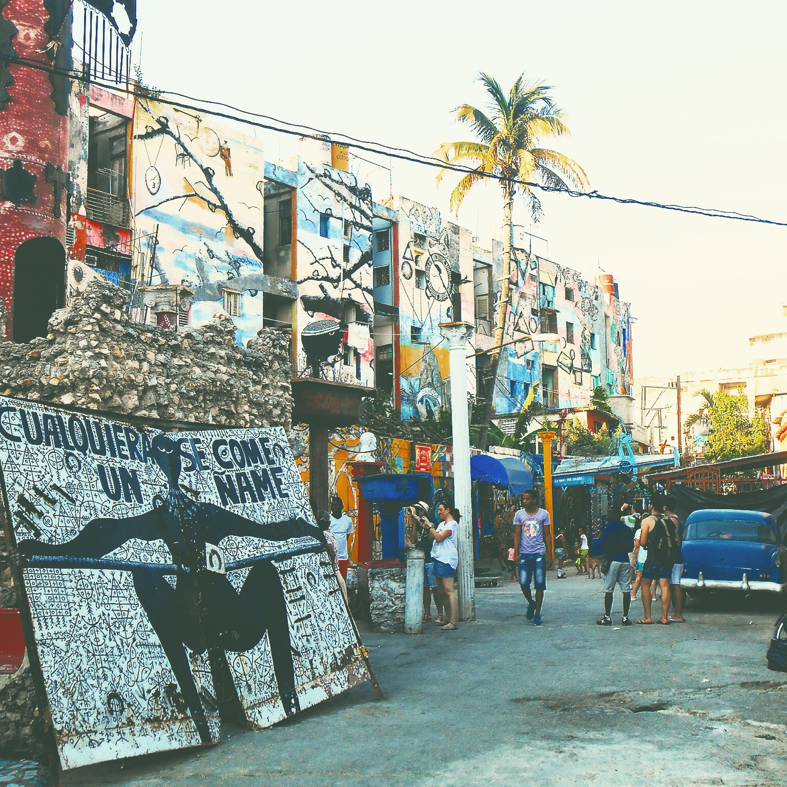 Callejon de Hamel, La Havane - Crédit Virginie Urios