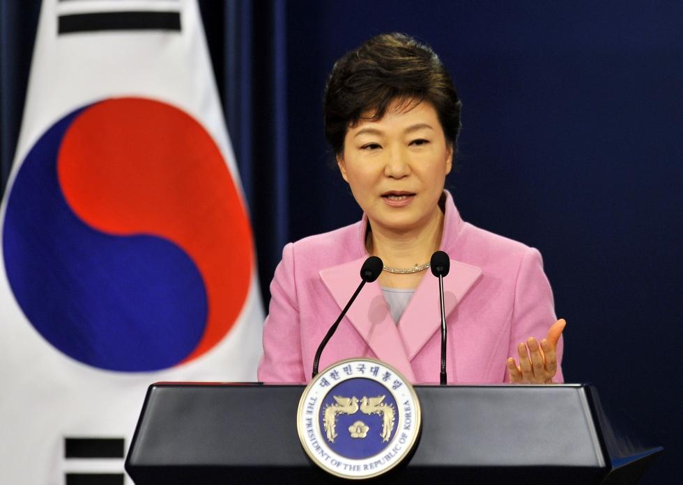 La présidente coréenne, Park Geun-hye est à la tête de l'Etat depuis février 2013. Crédit Jung Yeon-je/AP