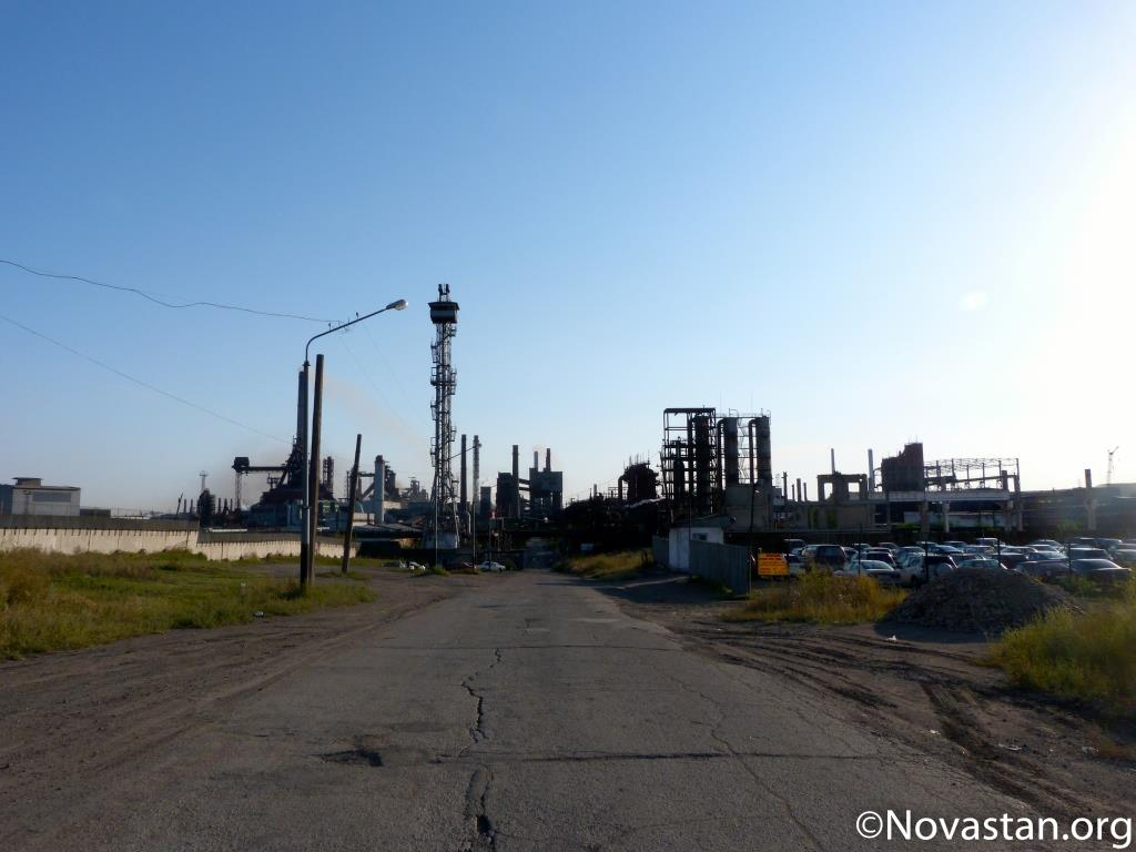 L'usine métallurgique de Temirtau au Kazakhstan, non loin de la ville de Karaganda. Crédit : Anatole Douaud
