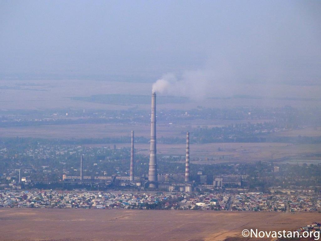 L'usine de chauffage «TETs» à Bichkek, Kirghizstan. Crédit : Anatole Douaud
