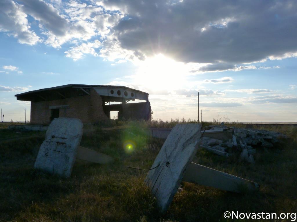 La gare abandonnée de Zaoziorny, au Kazakhstan. Crédit : Anatole Douaud
