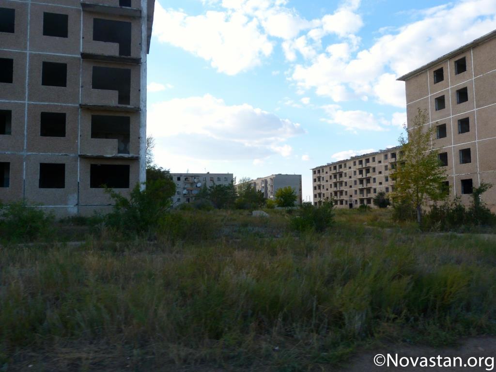 Le centre de Zaoziorny, au Kazakhstan. Crédit : Anatole Douaud