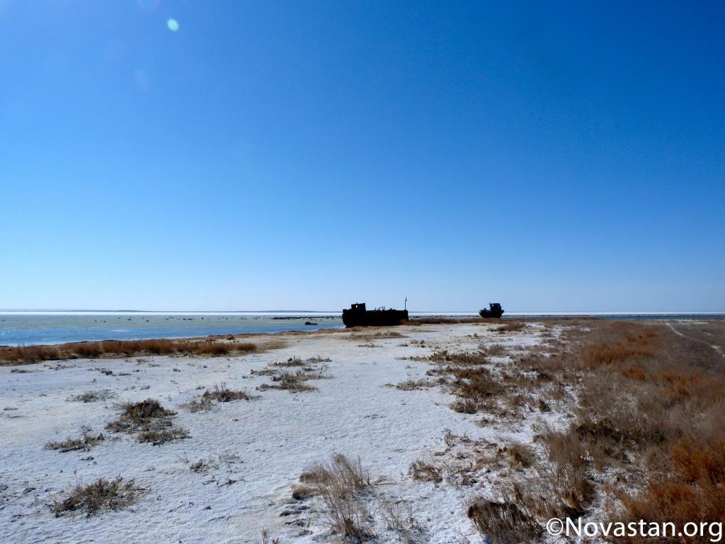Près d'Aralsk, au Kazakhstan. Crédit : Anatole Douaud