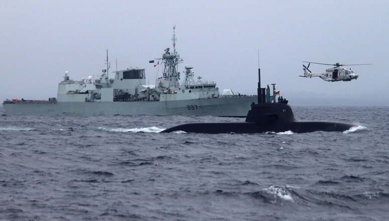 Lancement de l'exercice de guerre anti-sous-marine « Dynamic Mongoose » au large des côtes norvégiennes - Crédit : OTAN
