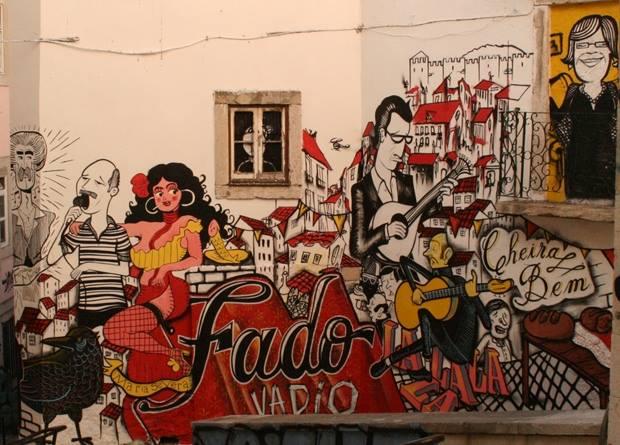 Fado graffiti - Crédit : James le Calvez