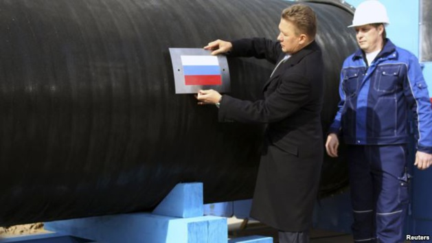El Director Ejecutivo de Gazprom Aleksei Miller cerca de Vybord, Rusia – Créditos Reuters