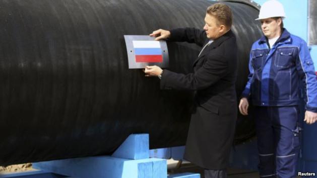 L'amministratore delegato di Gazprom Aleksei miller vicino a Vyborg, Russia - Fonte Reuters