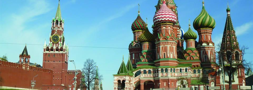 Cathédrale saint Basile le Bienheureux sur la place rouge à Moscou.Crédit Pauline Martin