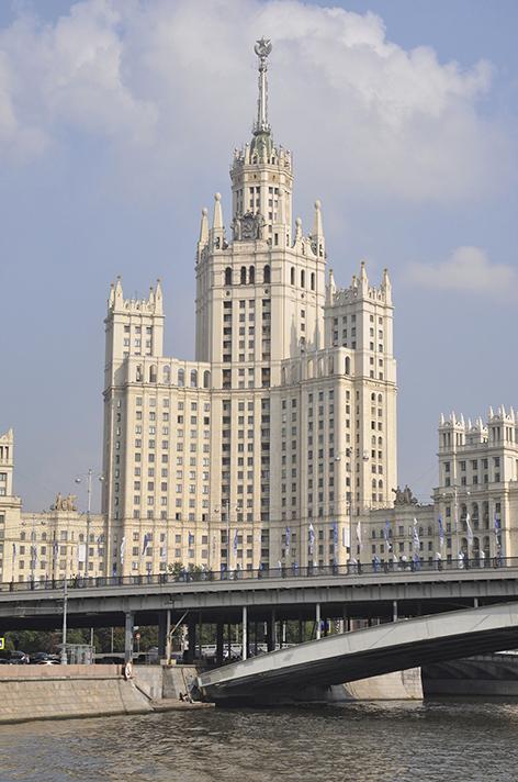 Kraskie Vorota, bâtiment stalinien. Crédit, Juliette Lissandre