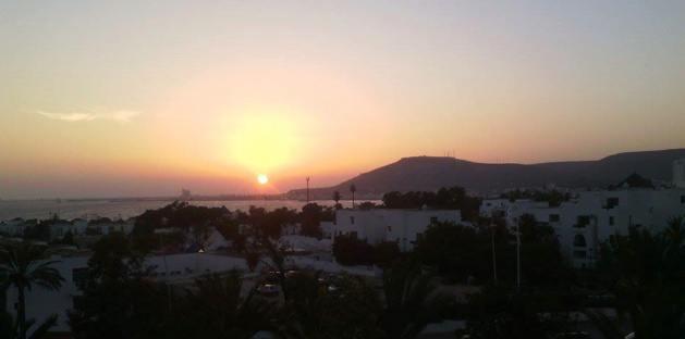 Pôr do sol em Agadir - Crédito Carolina Duarte de Jesus