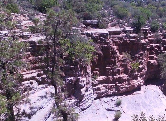 Formação de rochas - Crédito Carolina Duarte de Jesus