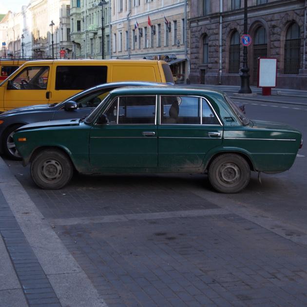 Una vecchia Moskvič. Fonte: Juliette Lissandre