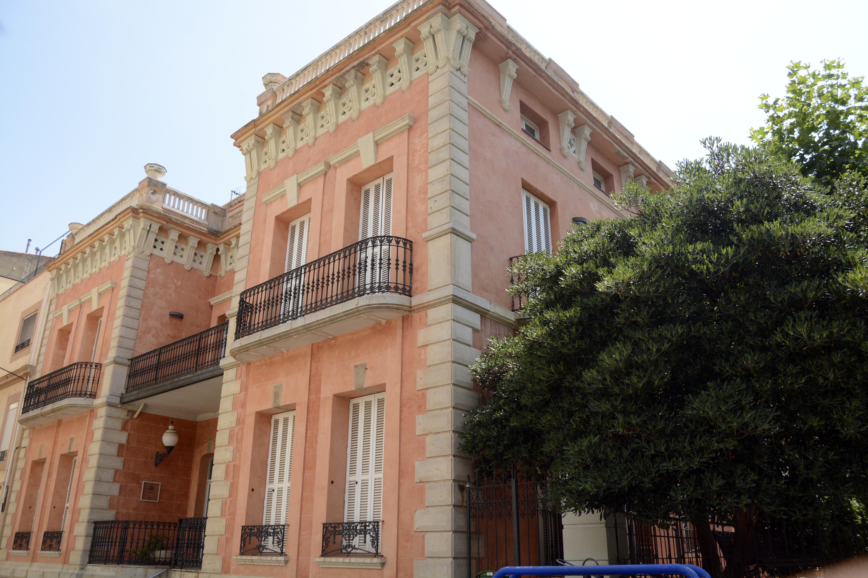 La Casa Herrero et ses murs roses. Crédit Auriane Guiot