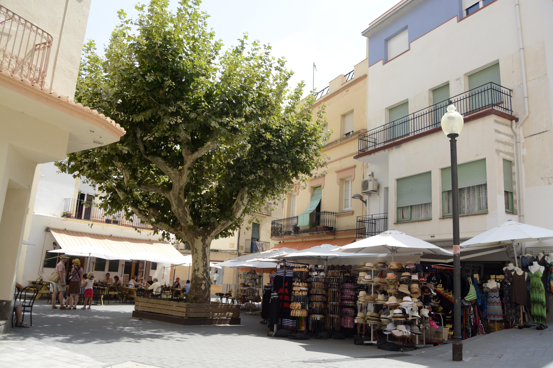 la Plaza del Mercat n'est pas très grande mais conviviale. Crédit Auriane Guiot