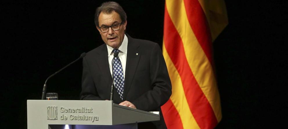 Artur Mas, leader indépendantiste et principal adversaire politique de Madrid – Crédit EFE