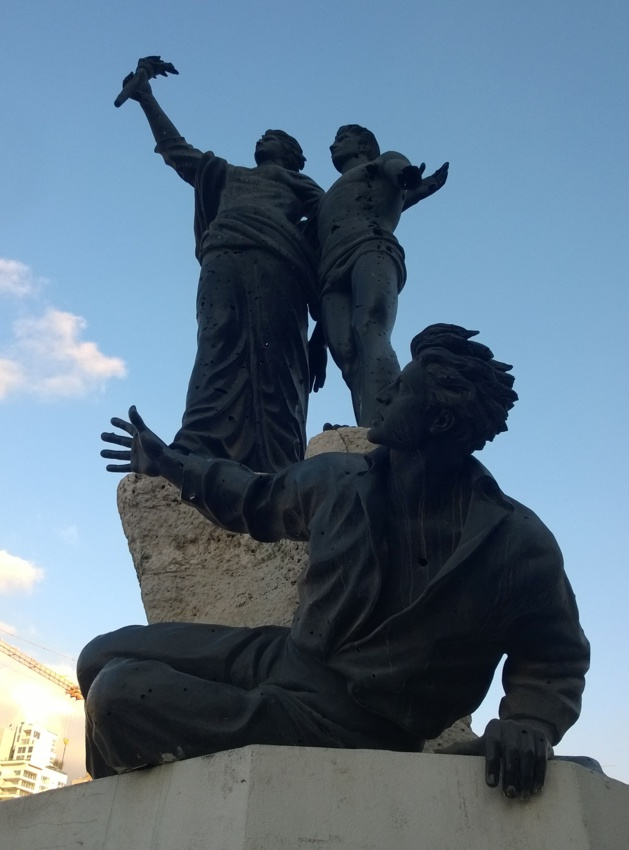Statue of martyrs, Beirut. Credits Salomé Ietter