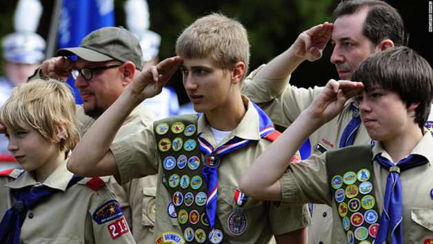 Boy Scouts of America. Credit AFP / Getty images