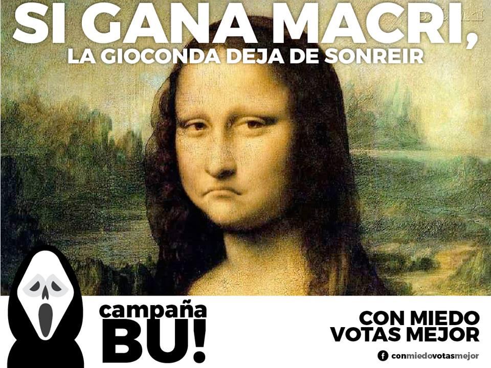 « Si Macri gagne, la Joconde ne sourira plus » – Crédit Conmiedovotasmejor