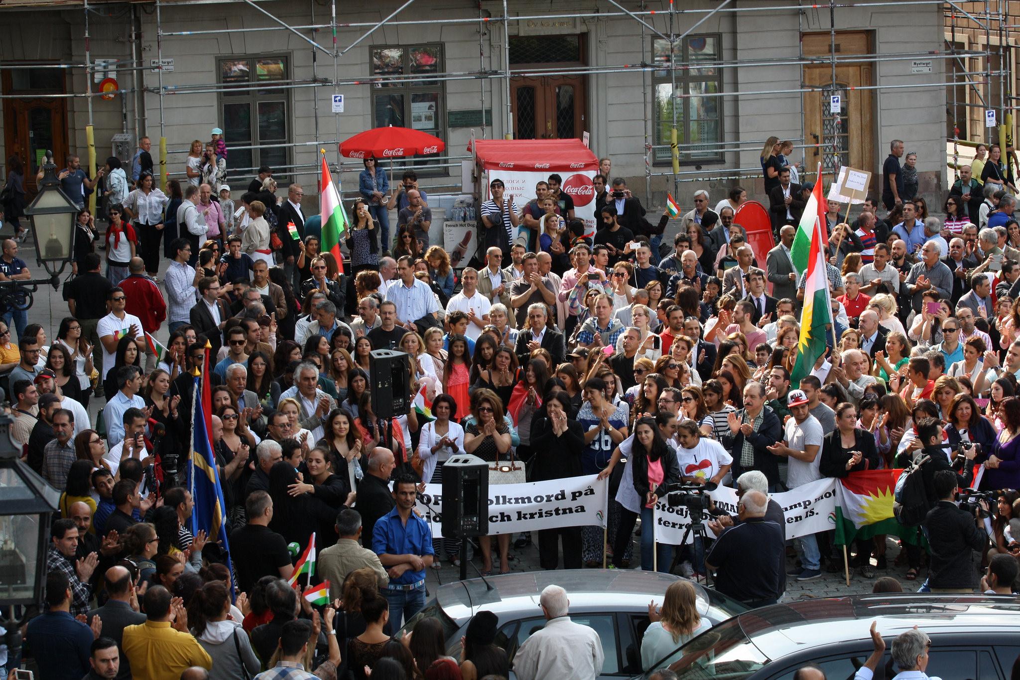 Manifestation à Stockholm (Suède), le 17 août 2014. Crédit Stefan Olsson / Flickr (CC BY 2.0)