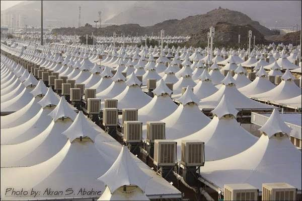 Tents put up in Mina in Saudi Arabia for the pilgrimage to Mecca. Credits to Akram S. Abahre