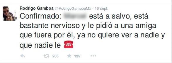 """""""Conferma: Pedro si sono impegnati per far pi. o e ha chiesto ad una cara amica di andarlo a prendere. Ora non vuole vedere nessuno e non vuole che nessuno lo chiamirso, reenshot di Twitter."""