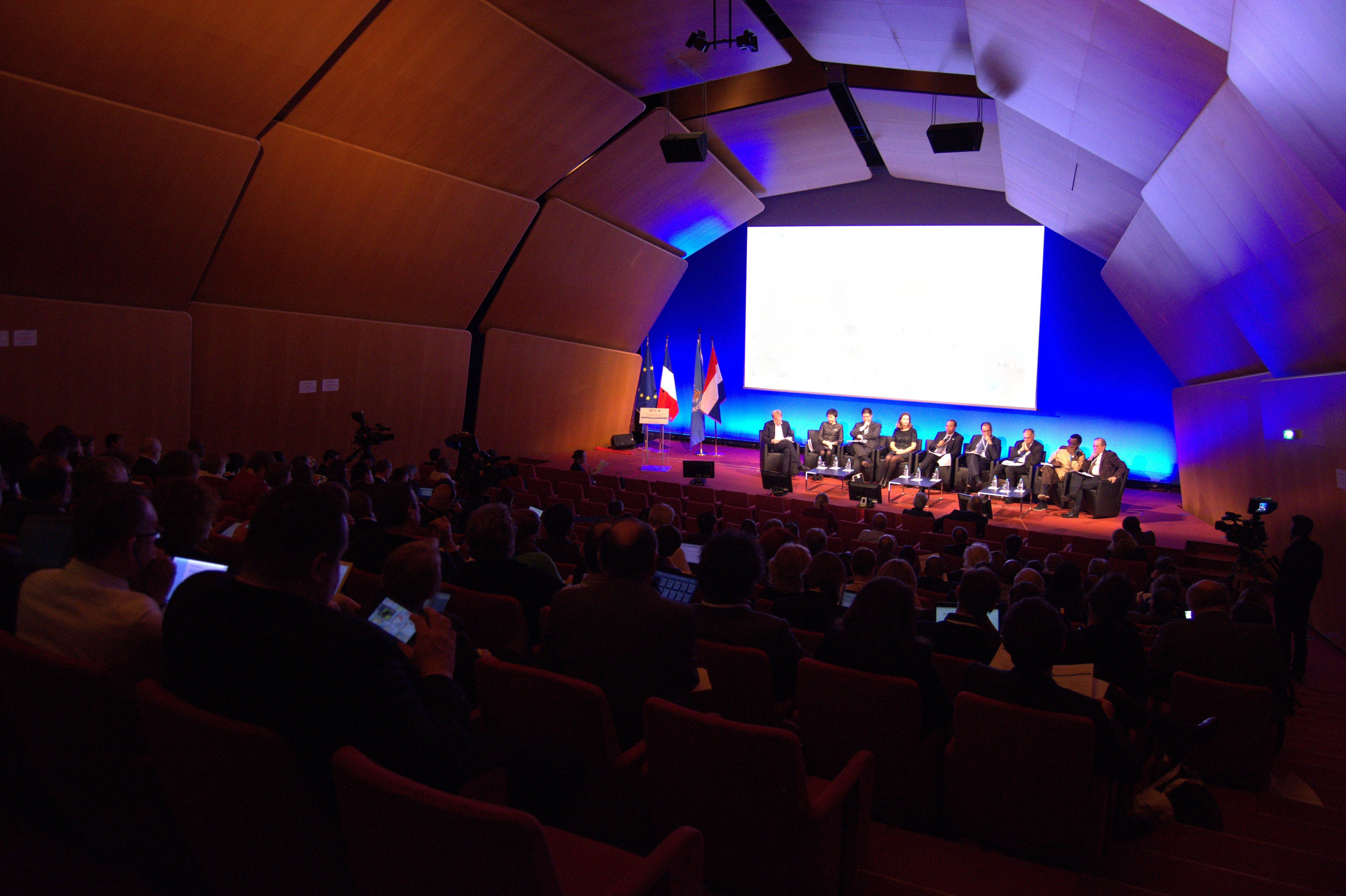 Pendant deux jours, les responsables de la santé mondiale se sont exprimés à Lyon. Crédit : Auriane Guiot