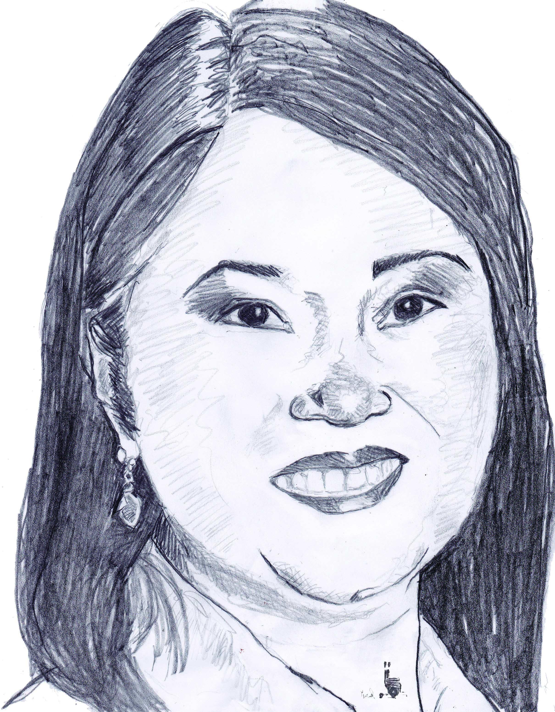 Keiko Fujimori, la candidate du parti Fuerza Popular, actuelle favorite. Crédit : Muriel Epailly