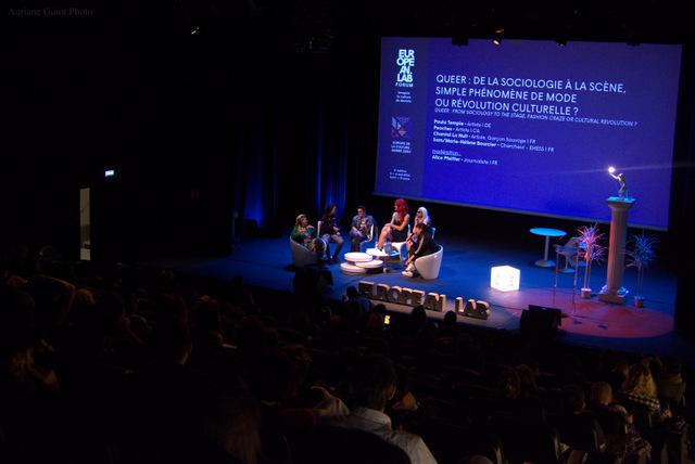 La conférence Queer a attiré de nombreux spectateurs. Crédit Auriane Guiot.