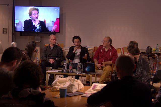 Table ronde sur la réalité virtuelle lors de la radio Lab. Crédit Auriane Guiot.