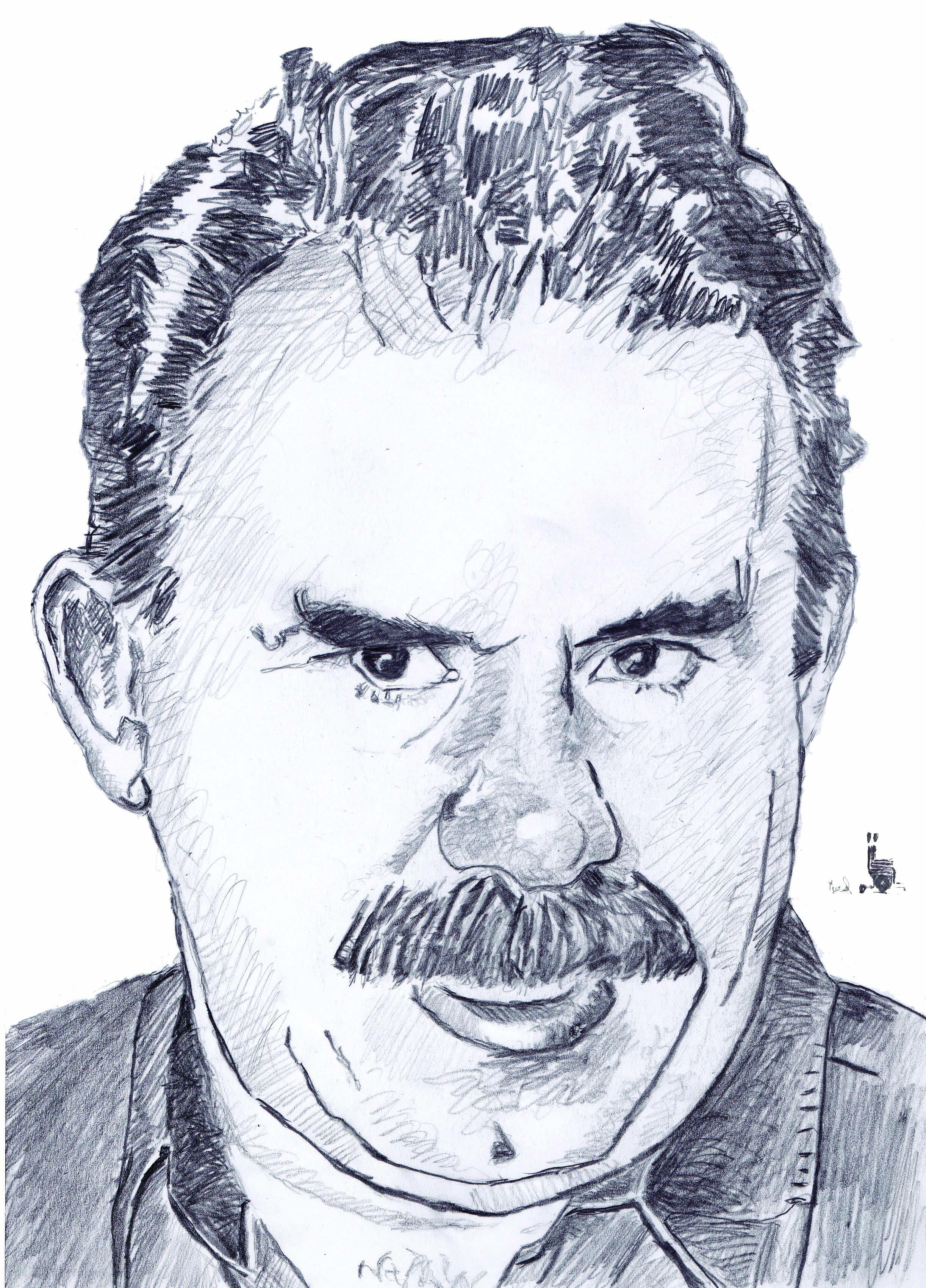 Portrait d'Abdullah Öcalan. Crédit Muriel Epailly.