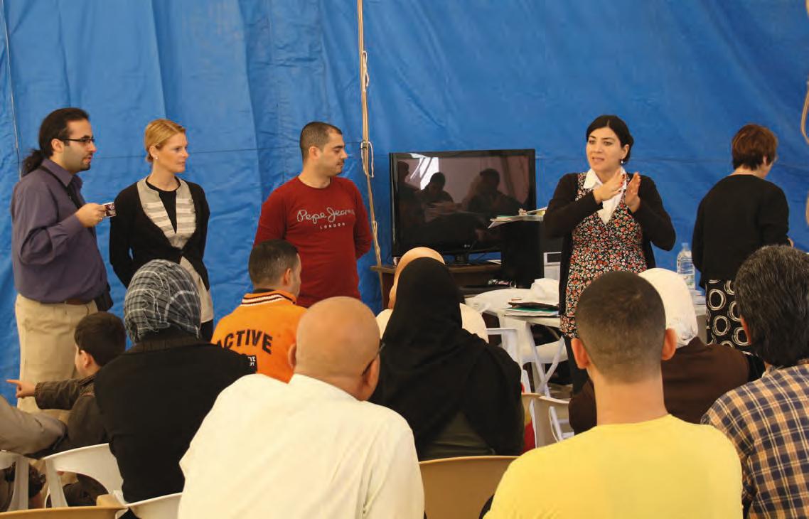 Programme de préparation mené par l'Office de migration (Migrationsverket), la commune de Ulricehamn et l'Agence pour l'emploi au camp de Al-Hol (Syrie). Crédit : Office national des migrations / ANGRE