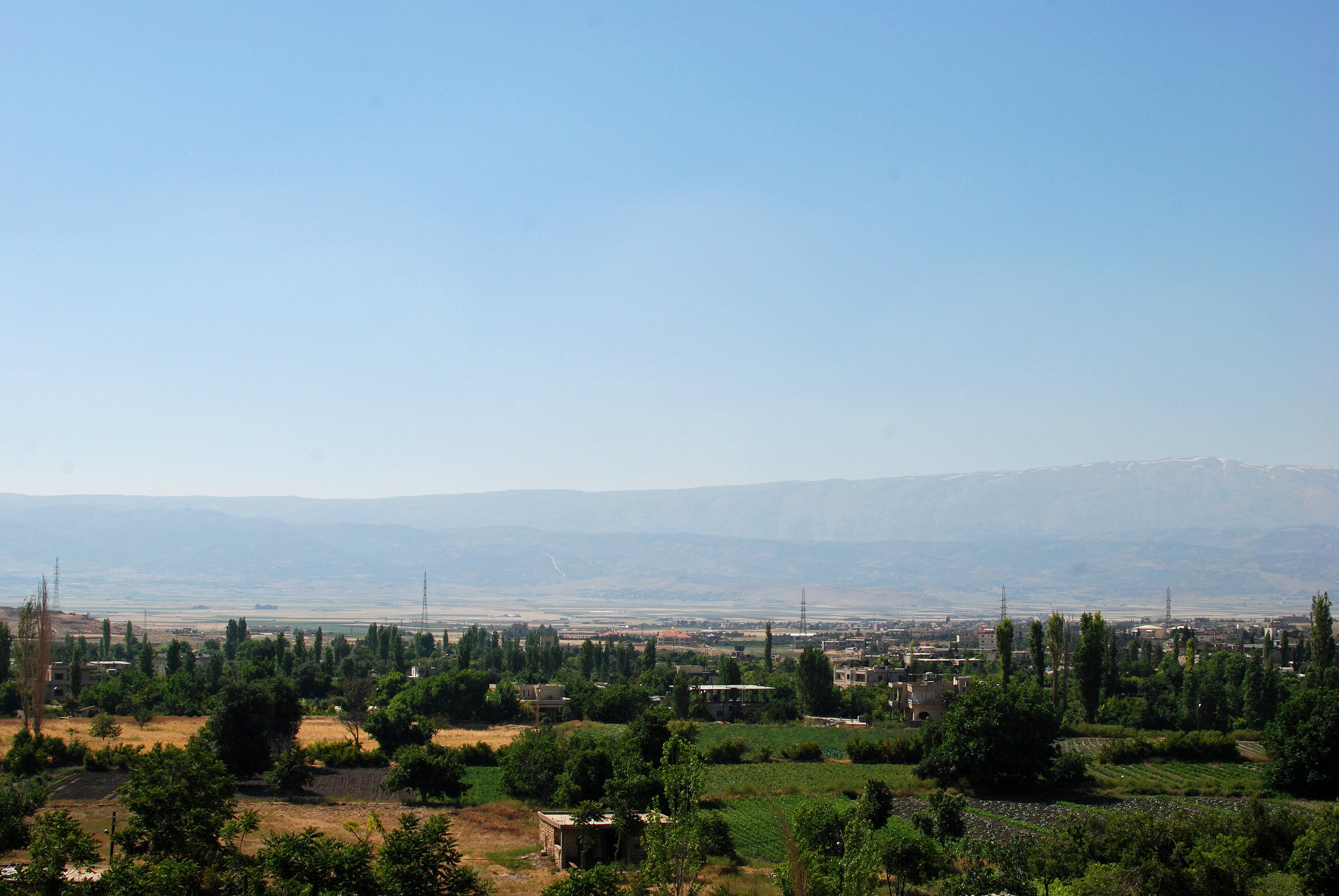 La plaine de la Beeka, berceau du trafic de cannabis libanais. Crédit Karin Jain (Flickr).