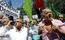 Manifestation au Portugal pendant la réunion de la BCE